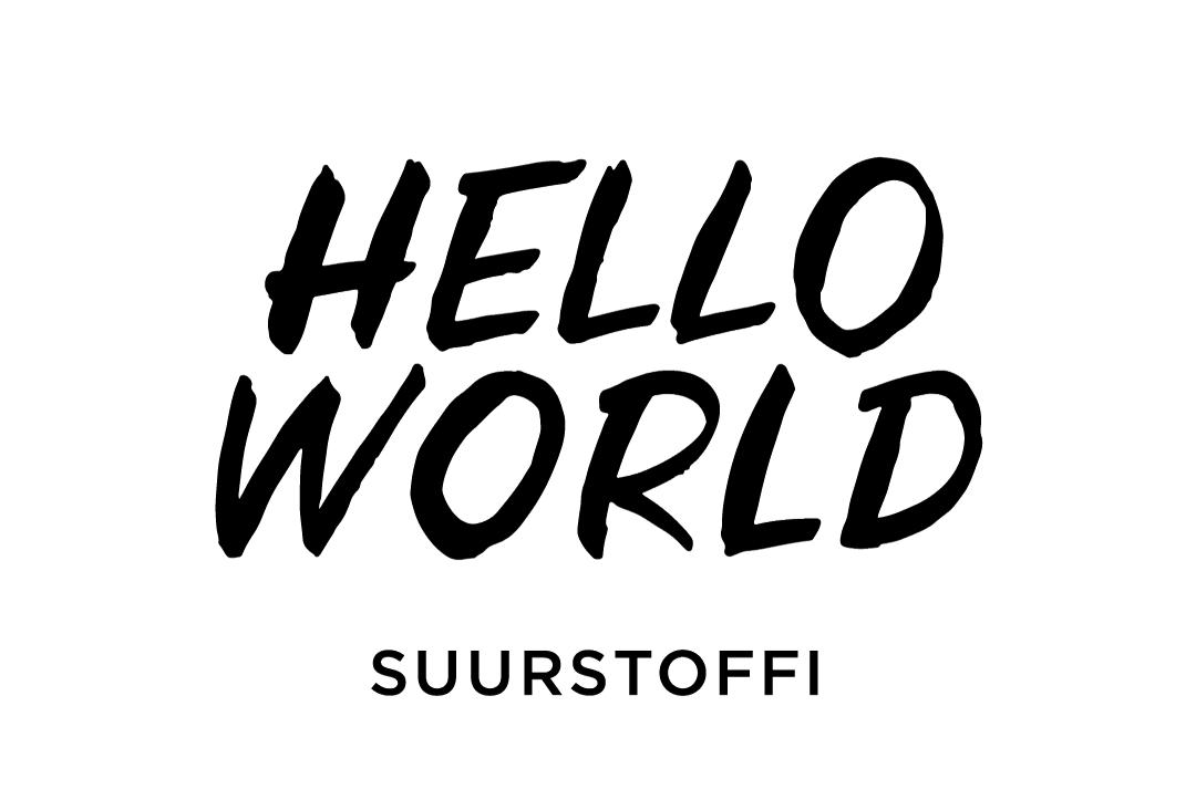 Hello world Suurstoffi Logo